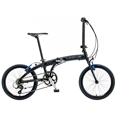 Viking Apex 20 Inch Wheel Folding Bike - Matt Black, 11 Inch