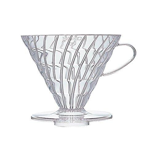 Hario V60 Plastic Coffee Dripper (Size 03, Clear)