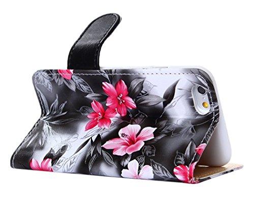 PowerQ [ para Sony Xperia Z3 D6653 D6603 - White ] PU Funda Serie bolsa Modelo colorido con bonito hermoso patrón de impresión Impresión Dibujo monedero de la cartera de la cubierta móvil del bolso de Multicolor