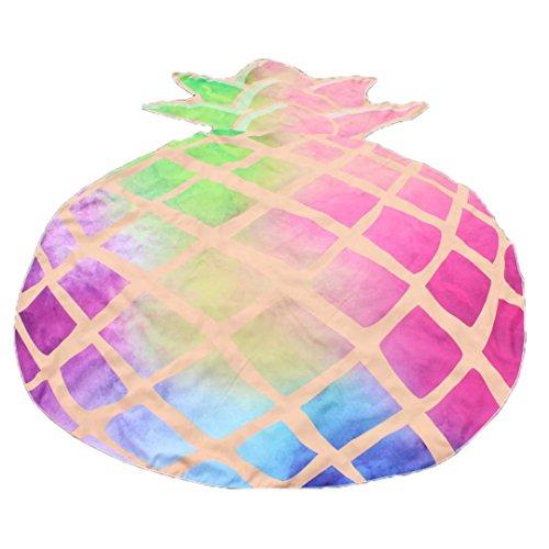 VESNIBA Fruit Design Beach Picnic Throw Yoga Mat Towel Blanket (147120cm, Pink) ()