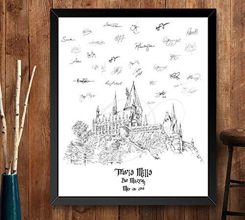 Harry Potter Hogwarts Castle Wedding Guest Book Alternative, Fairytale Wedding (Guestbook Sizes: 13