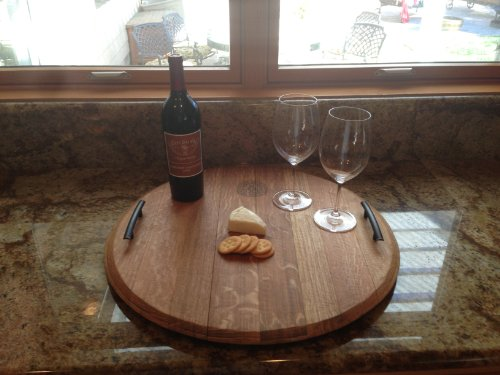 Wine Barrel Top Serving Tray (Wine Barrel Products compare prices)