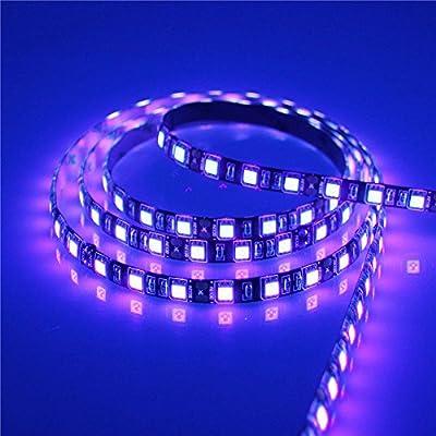 Aclorol Black Color UV Purple Light 395-405nm 5050 LED Strip 5M 300 SMD Flex Light Waterproof IP65 12V