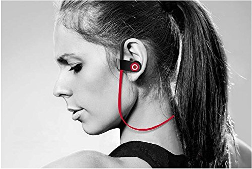 Wireless Headphones with Black Running Belt ,MAYBO SPORTS Sweatproof V4.1 Workout earbuds with Mic and Noise Cancelling, Adjustable Earhooks