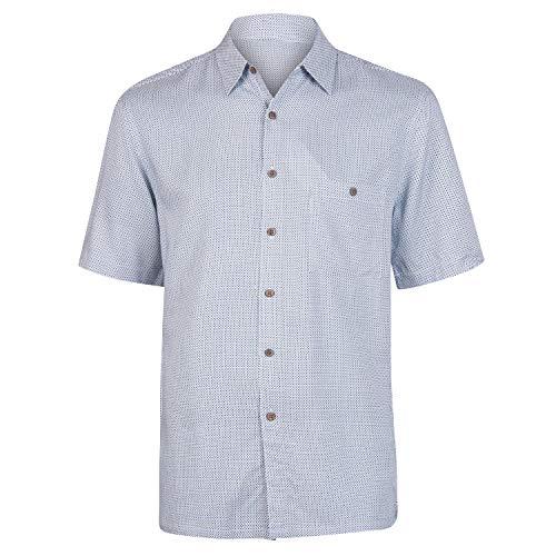 Campia Men's Rayon Print Shirt Big and Tall (Tonal Printed Plaid Teal, 3X) ()
