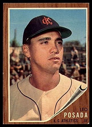 Baseball MLB 1962 Topps 168 Leo Posada EX Excellent Athletics