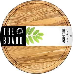 Amazon Com Wood Cutting Board 13 Quot Round Ash Wood Cutting Board More Reliable Than Bamboo Cutting Board And Plastic Cutting Boards Serving Board