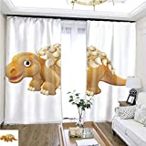 Cartoon Curtain Series Cute Edmontonia Cartoon Dinosaur W108 x L87 1549 Loop Curtain Panels Highprecision Curtains for bedrooms Living Rooms Kitchens etc.