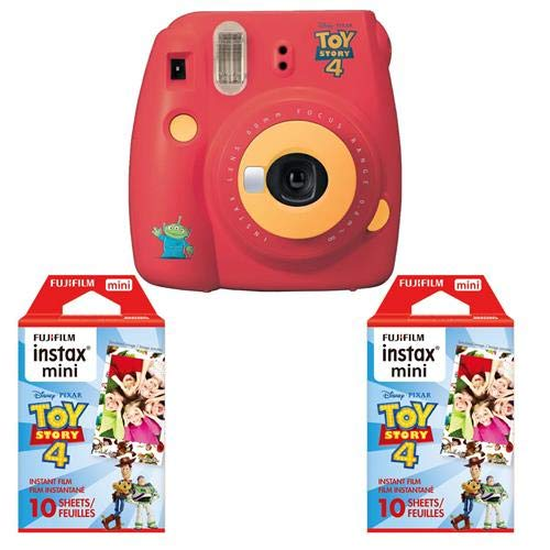 Fujifilm Instax Mini 9 Instant Film Camera, Toy Story 4 – with 2 Pack INSTAX Mini Toy Story 4 Instant Film, 10 Exposures