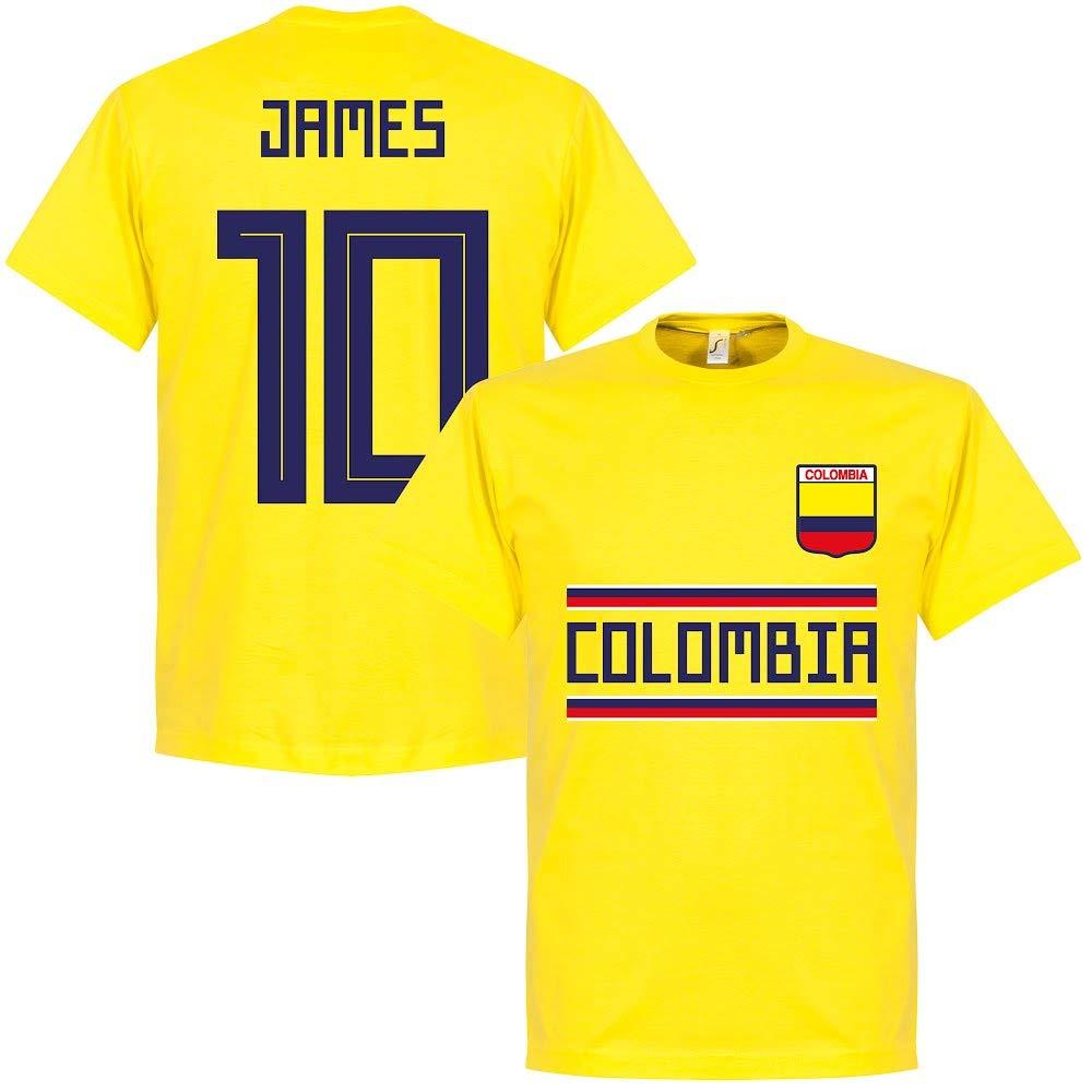 Kolumbien James 10 Team T Shirt gelb: : Bekleidung