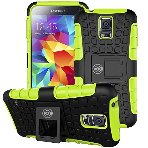 Cable And Case, Galaxy S5 Case Green - Ultra Tough Protection For Your Samsung Galaxy S5 Phone (Monsters Inc Phone Case Galaxy S5)