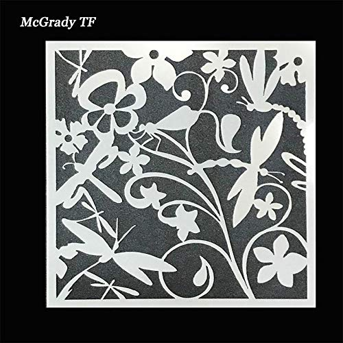 (1 piece Wedding Cake Fondant Stencils Dragonfly &Flowers Mould Cookie Kitchen Decorating Cake Tool Cake Top Stencil Mold Drop Shipping)