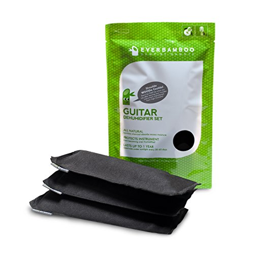 Simple Black Guitar (Ever Bamboo Guitar Dehumidifier Bag Set w/ Bamboo Charcoal (3-50 g))