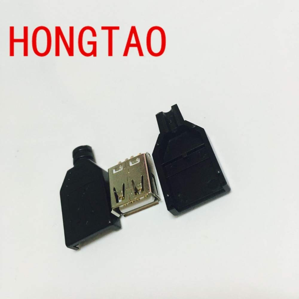 Cable Length: Other Computer Cables 10pcs DIY USB 2.0 A Female Plug Socket Connector /& Plastic Cover USB Plug Adapter USB Connector USB Socket for DIY Black Yoton