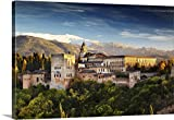Canvas On Demand Premium Thick-Wrap Canvas Wall Art Print entitled Spain, Andalusia, Granada, Alhambra Palace, Alhambra Palace at night