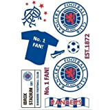 Rangers FC Official Product Wall Sticker Pack Self Adhesive 27 New