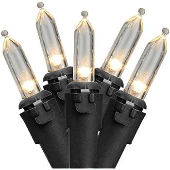 northlight set of 100 warm white led mini christmas lights 4 spacing black wire