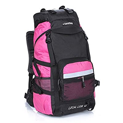 hongrun Forfait plein air 45L l'double voyage sac d'épaule grand sac à dos de randonnée en nylon imperméable