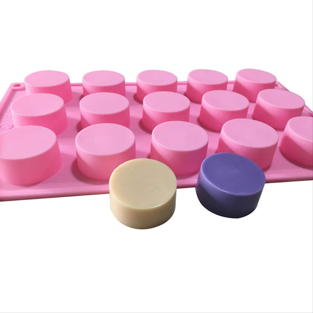 Silicone Mold 3D Craft Handmade Candle Mould 15 Hole Round Fondant Moulds Cake Baking Molds