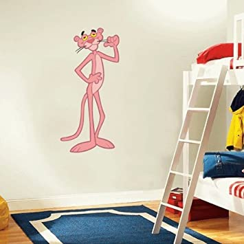 Pink Panther Cartoon Wall Decal Sticker 12u0026quot ... & Amazon.com: Pink Panther Cartoon Wall Decal Sticker 12