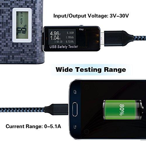 Digital Power Monitor : Eversame usb digital power meter tester multimeter current