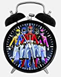 Power Rangers Alarm Desk Clock 3.75'' Room Decor E011 Will Be a Nice Gift