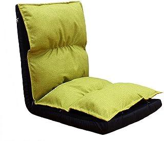 Chaise Pliante de Plancher 6 Positions à Dossier inclinable Canapé Paresseux Le Jeu Canapé Ordinateur Confortable (Vert)