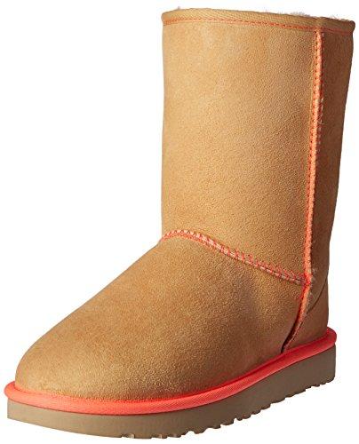 UGG Women's Classic Short II Neon Winter Boot, Soft Ochre, 7 B US