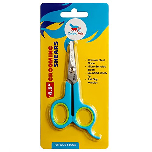 ziweto-pets-premium-quality-small-grooming-scissor-45-inch-for-dog-and-cats-with-micro-serrated-blad