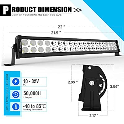 LED Light Bar YITAMOTOR 4 Pack 24 inches 120W Spot Flood Combo LED Work Light Fog Driving Light Off Road Light Bar Compatible for Pickup, Jeep, SKU, ATV, 4x4, Tractor, Truck, Boat, Car: Automotive