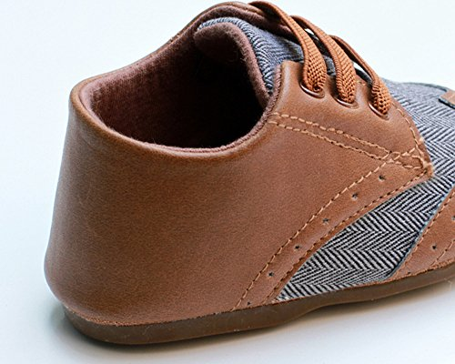 Pictures of Kuner Baby Boys Brown Pu Leather +Canvas Brown 3