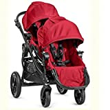 Baby Jogger 2015 City Select Twin Tandem Double Stroller Red w Second Seat