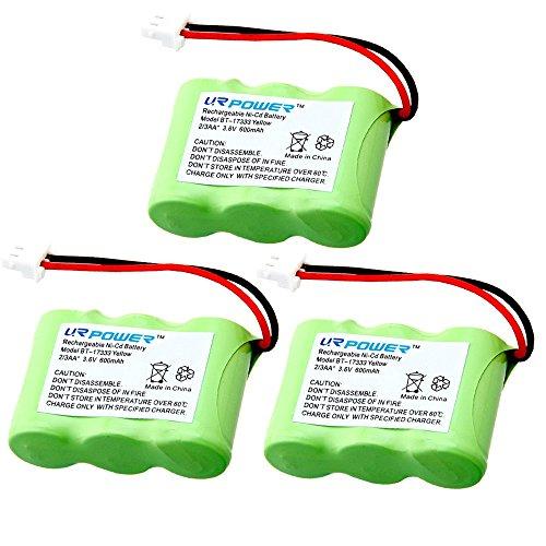 600mah Nicd Cordless Telephone Battery (URPOWER 3 Pack Cordless Home Phone Battery for BT-17333 BT-27333 CS2111 CS5111-2 CS5121 CS5121-2 Ni-CD 3.6V)