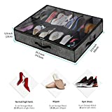 Onlyeasy Sturdy Under Bed Shoe Storage Organizer