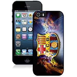 Unique DIY Designed Case For iPhone 5S With Soccer Club Barcelona 02 Football Logo Cell Phone Case