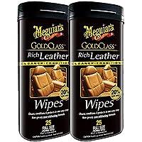 Meguiar 's Oro clase Rich–Limpiador de piel y Acondicionador, 2 unidades (toallitas)