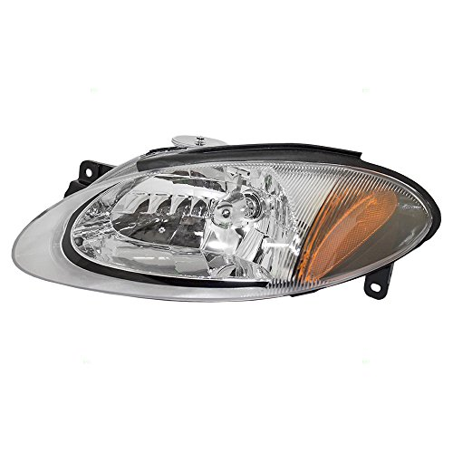 Drivers Halogen Combination Headlight Headlamp Replacement fits 98-03 Ford Escort ZX2 Coupe - Ford Coupe Escort 1999 Zx2