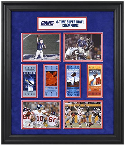 New York Giants Framed Super Bowl Ticket 24