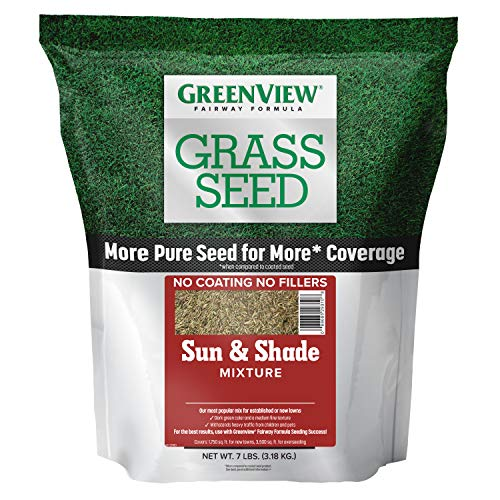 GreenView 2829337 Fairway Formula Grass Seed Sun & Shade Mixture, 7 lb