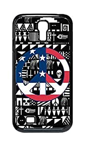 Cool Painting Peace Sign Snap-on Hard Back Case Cover Shell for Samsung GALAXY S4 I9500 I9502 I9508 I959 -1384