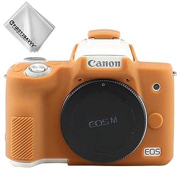 Marrón Cuerpo Completo Caucho de TPU Funda Estuche Silicona para cámara para Canon EOS M50 XJPT-EOS M50-GJ-09G11