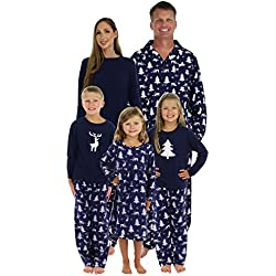 SleepytimePjs Matching Winter Deer Pajamas PJ Sets