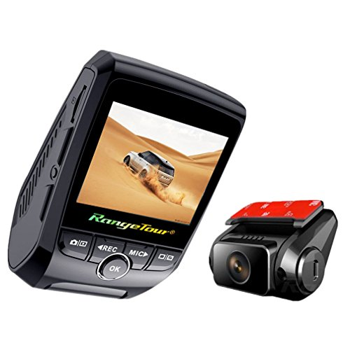 Dash Cam,Dual Channel Video Record: Front Cam Full HD 1080P + Rear Cam HD 720P,Built In GPS Logger Dashboard Camera Mini Car DVR Loop Recording, WDR,Night Vision,G-Sensor