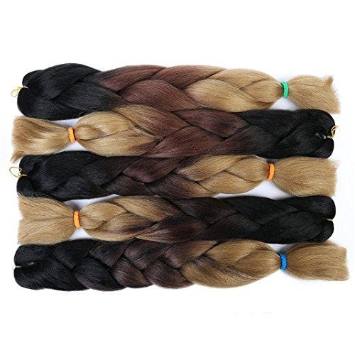 Hot Sale 2018 3 Tone Braiding Hair Extension Kanekalon Synthetic