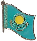 Kazakhstan Flag Lapel Pin for travel bags, backpacks, hats, and clothing