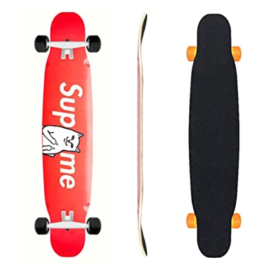 Aniseed Skateboards Longboard Skateboard Deck Complete Red Cat 9.8-Inch X 46.0-Inch : Sports & Outdoors