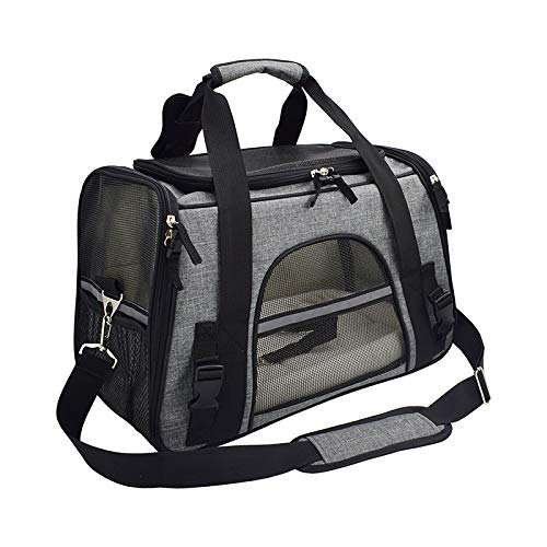 Purrpy Pet Carrier Bag, Airline Approved Duffle Bags, Pet Travel Portable Bag Home for Little Dogs, Cats and Puppies…