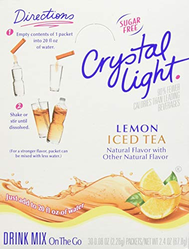 Crystal Light On The Go Sticks - 20oz Water Bottle Size - 30ct Boxes (Pack of 4) - Iced Tea (20 Ounce Crystal)