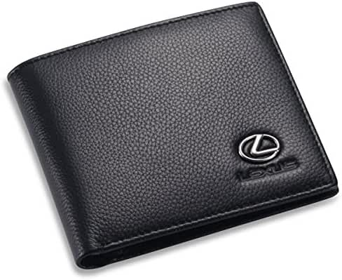 Lexus Bifold Wallet with 3 Credit Card Slots and ID Window - Genuine Leather