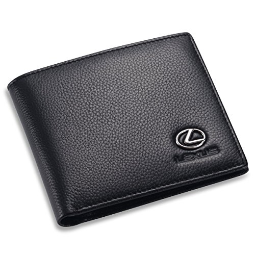 Lexus Bifold Wallet With 3 Credit Card Slots And Id Window   Genuine Leather